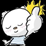 【無料スタンプ速報】ニトリのシロクマ スタンプ(2015年07月13日まで)