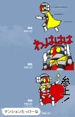 【テレビ番組企画スタンプ】デンセンマン(電線マン) スタンプ (3)