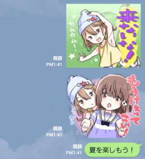 【萌えクリエイターズスタンプ】熱いぜ!夏の北関東スタンプ (8)