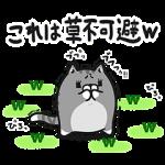 【無料スタンプ速報】草不可避w ボンレス猫スペシャルスタンプ(2015年09月07日まで)