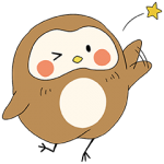 【無料スタンプ速報】NEW!ぽふぽふフク子さん☆ スタンプ(2015年08月17日まで)