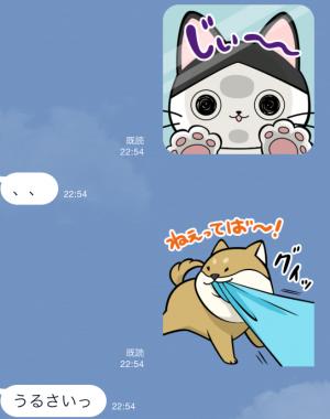 【限定無料スタンプ】いぬ・ねこのきもち「柴太郎」と「はちこ」 スタンプ(2015年09月07日まで) (8)