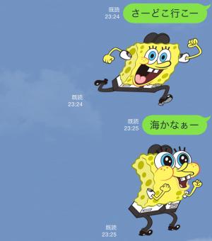 【音付きスタンプ】バニラエア x スポンジ・ボブ スタンプ(2015年08月24日まで) (8)