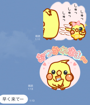 【オススメスタンプ】日常使える可愛いオカメ スタンプ (8)