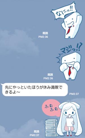 【大学・高校マスコットクリエイターズ】こっトん&サラフ スタンプ (4)