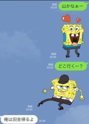 【音付きスタンプ】バニラエア x スポンジ・ボブ スタンプ(2015年08月24日まで) (9)