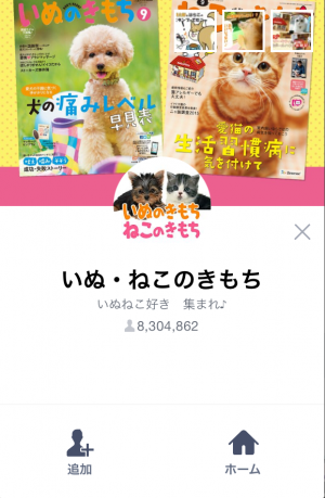 【限定無料スタンプ】いぬ・ねこのきもち「柴太郎」と「はちこ」 スタンプ(2015年09月07日まで) (1)