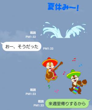 【公式スタンプ】動く!チップとデール(夏がいっぱい) スタンプ (4)