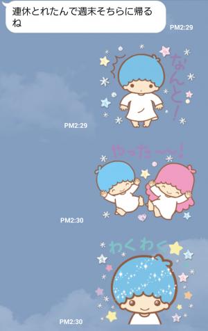 【公式スタンプ】キキ&ララ トゥインクル♪アニメスタンプ (3)