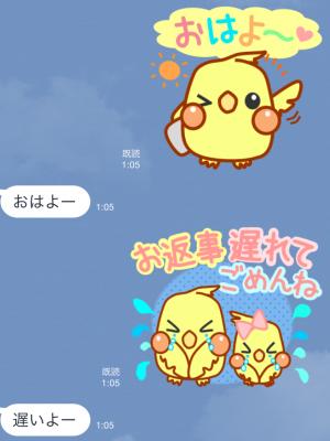 【オススメスタンプ】日常使える可愛いオカメ スタンプ (3)