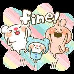 【隠し無料スタンプ】かまってウサちゃん&ほいっくまとミミー スタンプ(2015年09月14日まで)