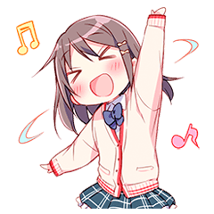 【萌えクリエイターズスタンプ】あなたにカンシャ☆女子高生スタンプ