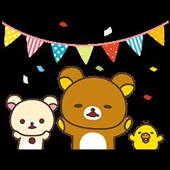 【無料スタンプ速報】LINE リラックマ ころろんパズル スタンプ(2015年09月09日まで)