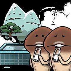【ゲームキャラクリエイターズスタンプ】世界のなめこ図鑑スタンプ