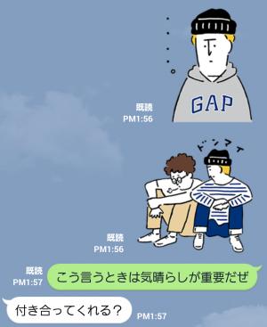 【隠し無料スタンプ】GAP日本上陸20周年記念スタンプ(2015年11月23日まで) (9)
