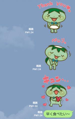 【隠し無料スタンプ】かっぱ寿司 カーくん&パー子ちゃん スタンプ(2015年11月30日まで) (9)