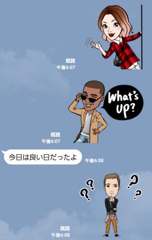 【動く限定無料スタンプ】動く!LAファッショニスタ Part2 スタンプ(2015年10月19日まで) (6)