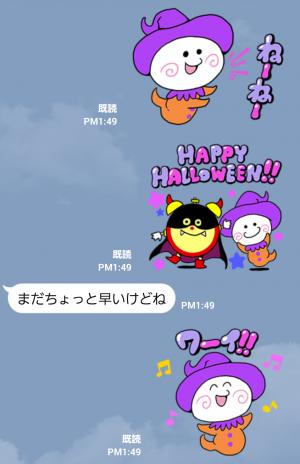 【隠し無料スタンプ】ころりん★ハロウィンキャラクタースタンプ(2015年12月09日まで) (6)