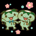 【無料スタンプ速報:隠しスタンプ】かっぱ寿司 カーくん&パー子ちゃん スタンプ(2015年11月30日まで)