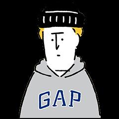 【隠し無料スタンプ】GAP日本上陸20周年記念スタンプ(2015年11月23日まで)