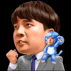 【無料スタンプ速報:隠しスタンプ】エン転職 Mr.エン/バカリズム&濱田岳 スタンプ(2015年11月23日まで)