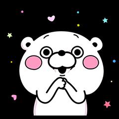 【隠し無料スタンプ】くま&うさぎ100% コラボスタンプ(2015年11月29日まで)