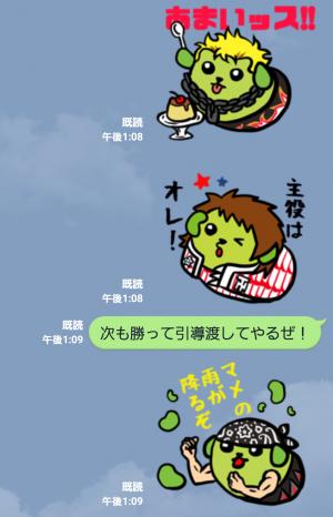 【スポーツマスコットスタンプ】イヤァオ!!新日本プロレス×豆しばプロレス スタンプ (4)