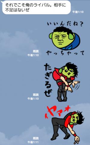 【スポーツマスコットスタンプ】イヤァオ!!新日本プロレス×豆しばプロレス スタンプ (5)