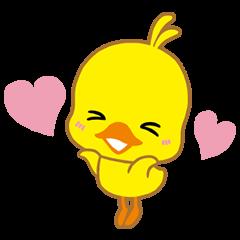 【無料スタンプ速報:隠しスタンプ】チキンラーメン ひよこちゃんスタンプ(2015年12月28日まで)