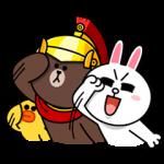 【無料スタンプ速報:隠しスタンプ】ブラウン隊長!?がやって来た スタンプ(2015年12月23日まで)