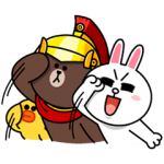 【隠し無料スタンプ】ブラウン隊長!?がやって来た スタンプ(2015年12月23日まで)