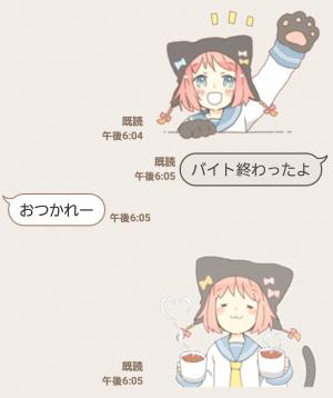 【萌えクリエイターズスタンプ】ねこみみっこネココ 4 スタンプ (3)