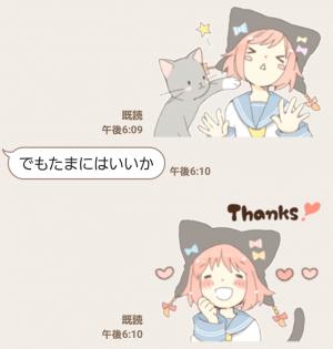 【萌えクリエイターズスタンプ】ねこみみっこネココ 4 スタンプ (7)