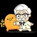 【限定無料スタンプ】KFC×もふ屋 コラボスタンプ(2015年11月30日まで)