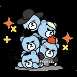 【公式スタンプ】動く!KRUNK×BIGBANG スタンプ