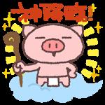 【限定無料スタンプ】ぶたたと楽しもうLIVECASTスタンプ(2015年12月09日まで)