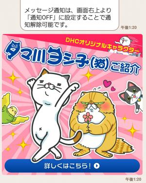 【限定無料スタンプ】タマ川 ヨシ子(猫)新作スタンプ第8弾♪ スタンプ(2016年01月11日まで) (4)