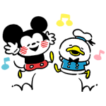 【公式スタンプ】Disney Mickey u0026 Friends by Kanahei スタンプ