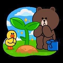 【無料スタンプ速報:隠しスタンプ】LINE ブラウンファーム スタンプ(2016年02月03日まで)