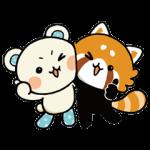 【限定無料スタンプ】しろたさんとれさ丸 スタンプ(2016年02月01日まで)