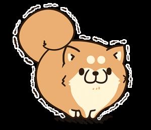 ゆるむち系キャラ「ボンレス犬」による意味もなく相手にスタンプを送りつけるスタンプテロ用スタンプです。