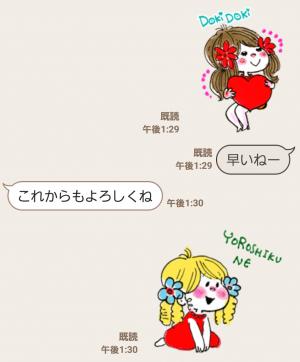 【公式スタンプ】水森亜土~Cuteに動くアニメスタンプ~ スタンプ (6)