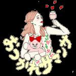 【無料スタンプ速報:隠しスタンプ】サマンサタバサ公式オリジナルスタンプ(2016年05月29日まで)