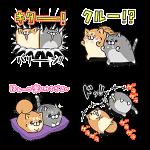【無料スタンプ速報】LINE LIVE×ボンレス犬&猫コラボ スタンプ(2016年03月02日まで)