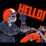 【隠し無料スタンプ】動く!ハーレーライダー スタンプ(2016年06月22日まで)