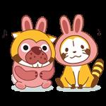 【隠し無料スタンプ】ポコポコ × ラスカル コラボスタンプ♪ スタンプ(2016年05月12日まで)