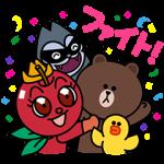 【限定無料スタンプ】リンゴキッド×LINEキャラクターコラボ スタンプ(2016年05月23日まで)