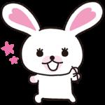 【日替半額セール】うさぎのモフィ スタンプ(2016年05月18日分)