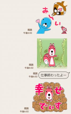 【公式スタンプ】「ぼのぼの」飛び出すスタンプ! スタンプ (3)