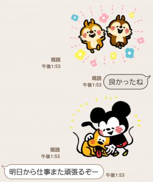 【公式スタンプ】うごく!カナヘイ画♪ミッキー&フレンズ スタンプ (4)